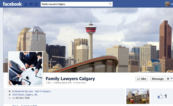 Family Lawyers Calgary Facebook Page
